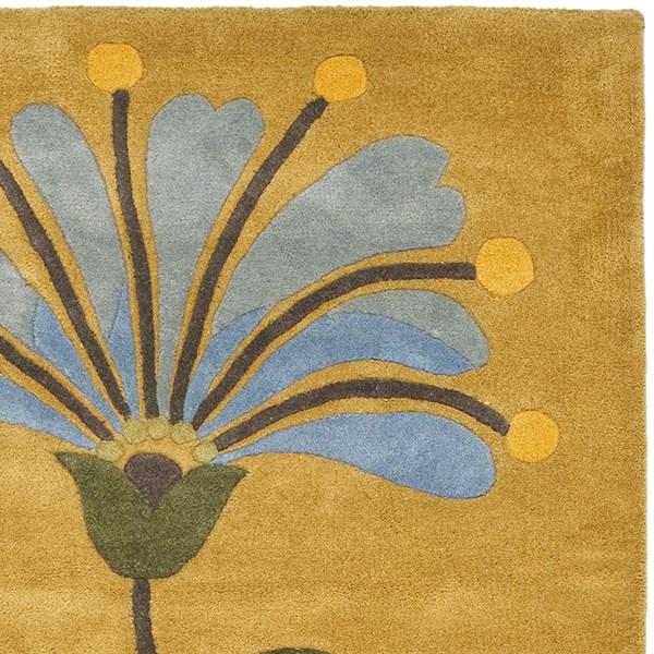 Golden Olive (A) Floral / Botanical Area Rug