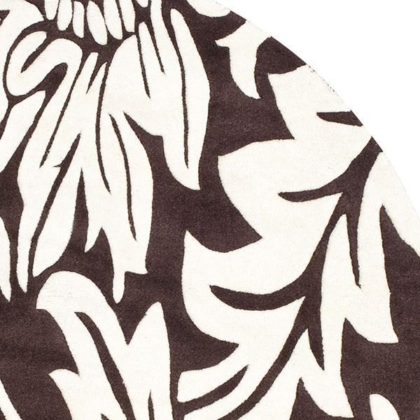 Brown, Ivory (A) Floral / Botanical Area Rug