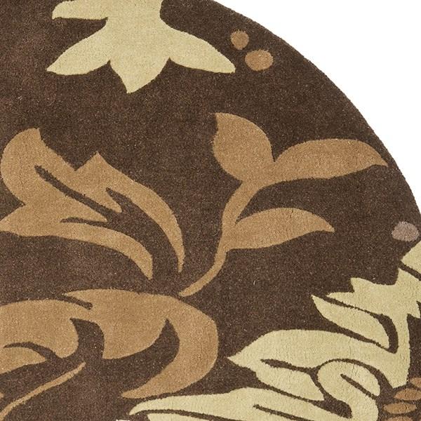 Brown (B) Floral / Botanical Area Rug