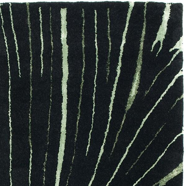 Black (A) Contemporary / Modern Area Rug