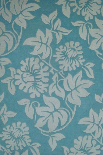 Blue, Ivory (A) Floral / Botanical Area Rug
