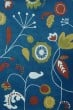 Product Image of Floral / Botanical Dark Blue (B) Area Rug
