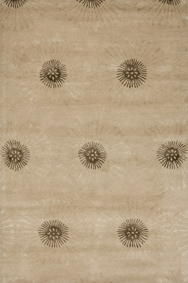 Beige, Brown (A) Contemporary / Modern Area Rug