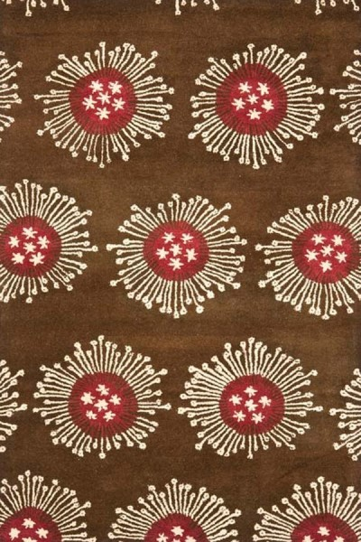 Brown (A) Contemporary / Modern Area Rug