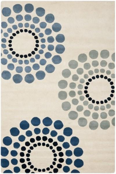 Ivory (A) Contemporary / Modern Area Rug
