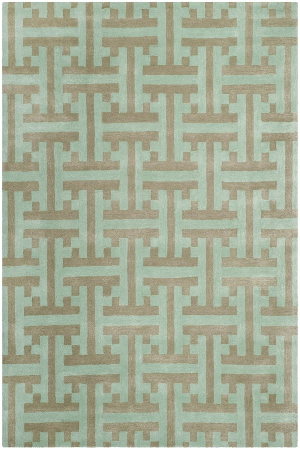Light Blue (A) Transitional Area Rug