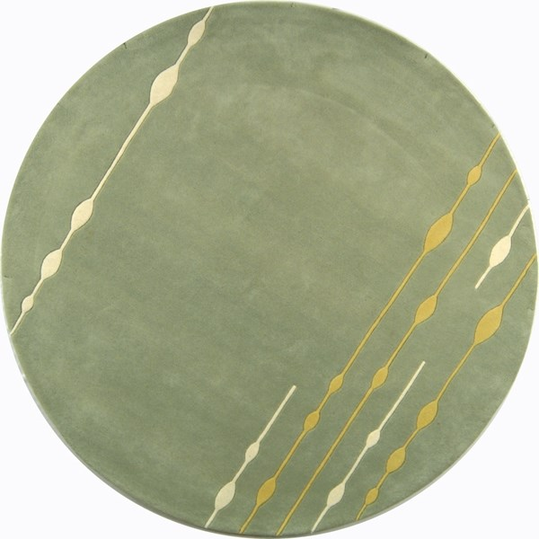 Green (A) Transitional Area Rug