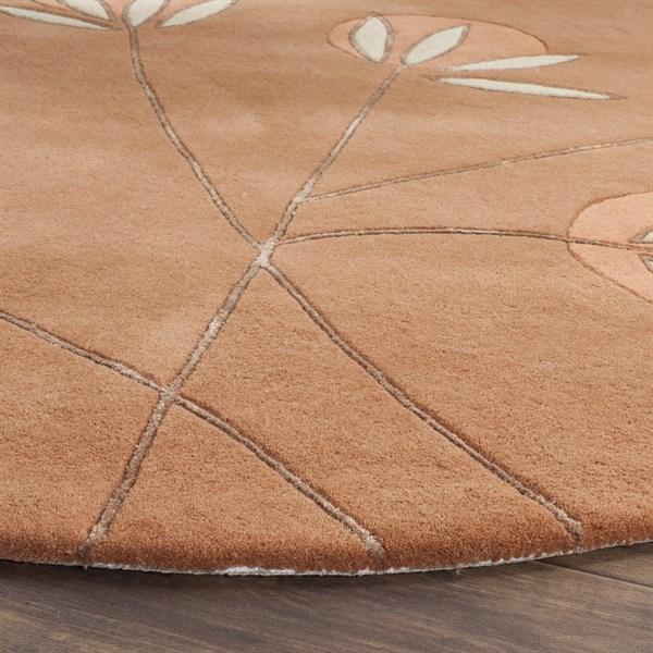 Rust (A) Contemporary / Modern Area Rug
