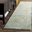 Product Image of Light Blue (A) Floral / Botanical Area Rug