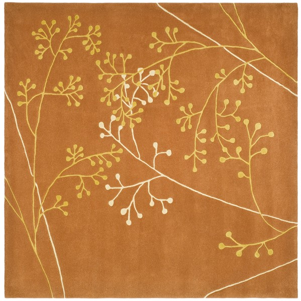 Rust (D) Floral / Botanical Area Rug