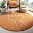 Product Image of Rust (D) Floral / Botanical Area Rug