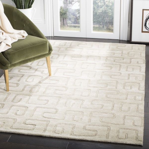 Taupe (D) Contemporary / Modern Area Rug