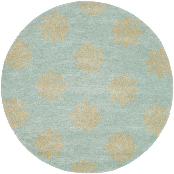 Turquoise (A) Transitional Area Rug