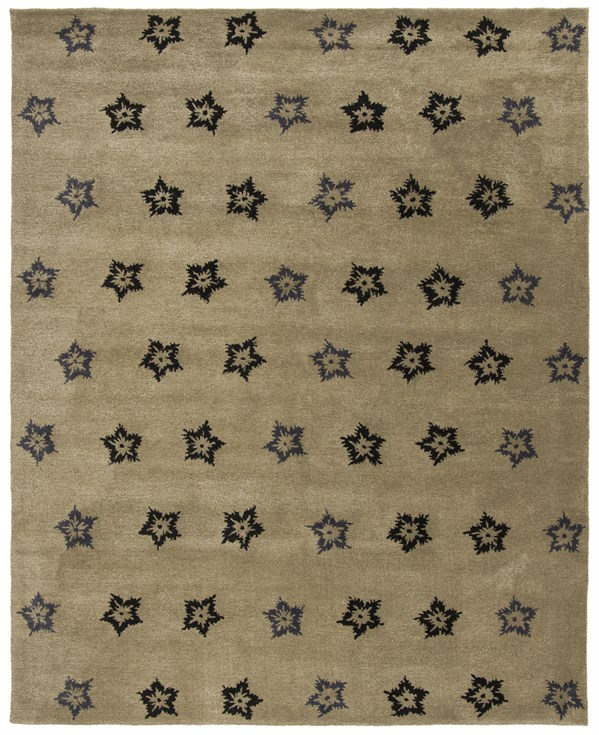 Sage, Black (A) Transitional Area Rug