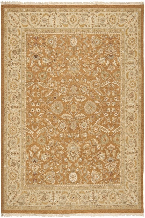 Copper, Beige (A) Traditional / Oriental Area Rug