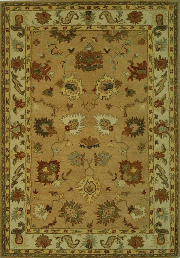 Taupe, Ivory (A) Traditional / Oriental Area Rug