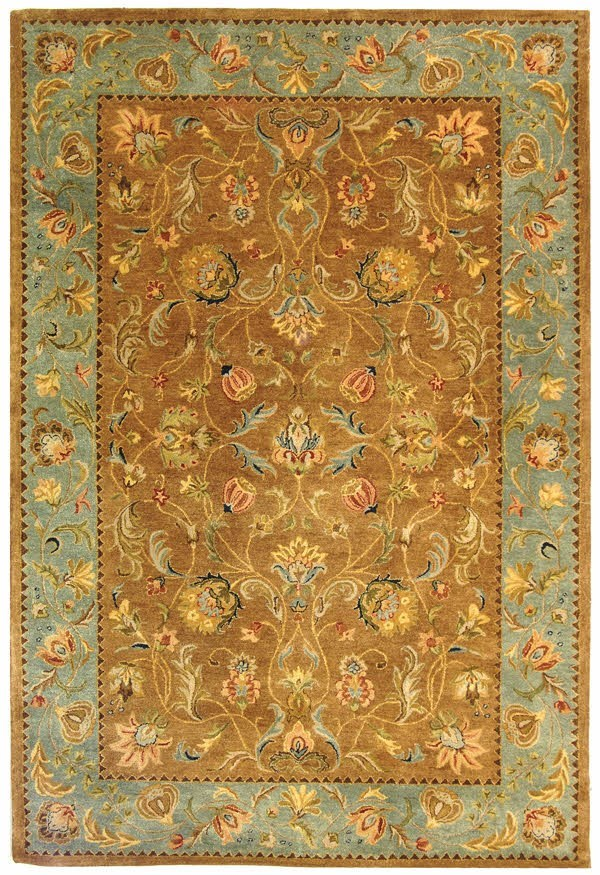 Brown, Blue (A) Traditional / Oriental Area Rug