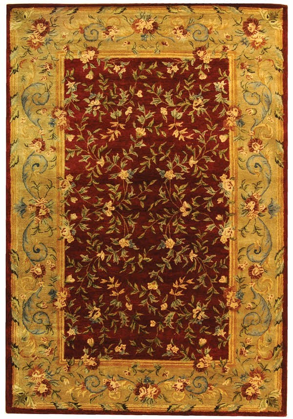 Red, Dark Beige (A) Traditional / Oriental Area Rug
