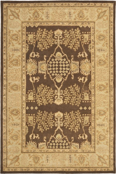 Brown, Green Traditional / Oriental Area Rug