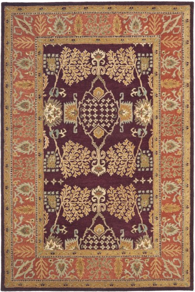 Red, Rust (C) Traditional / Oriental Area Rug