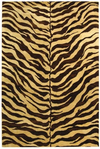 Beige, Brown (A) Animals / Animal Skins Area Rug