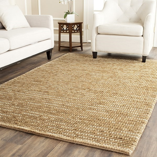 Beige (F) Natural Fiber Area Rug