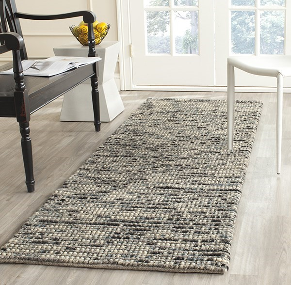 Grey, Ivory, Sage (K) Rustic / Farmhouse Area Rug