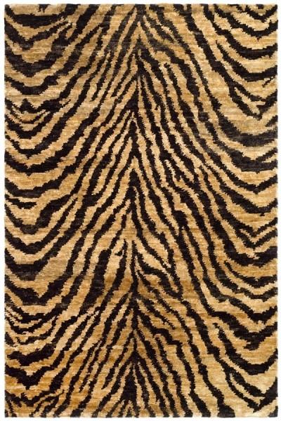 Natural, Black (A) Contemporary / Modern Area Rug