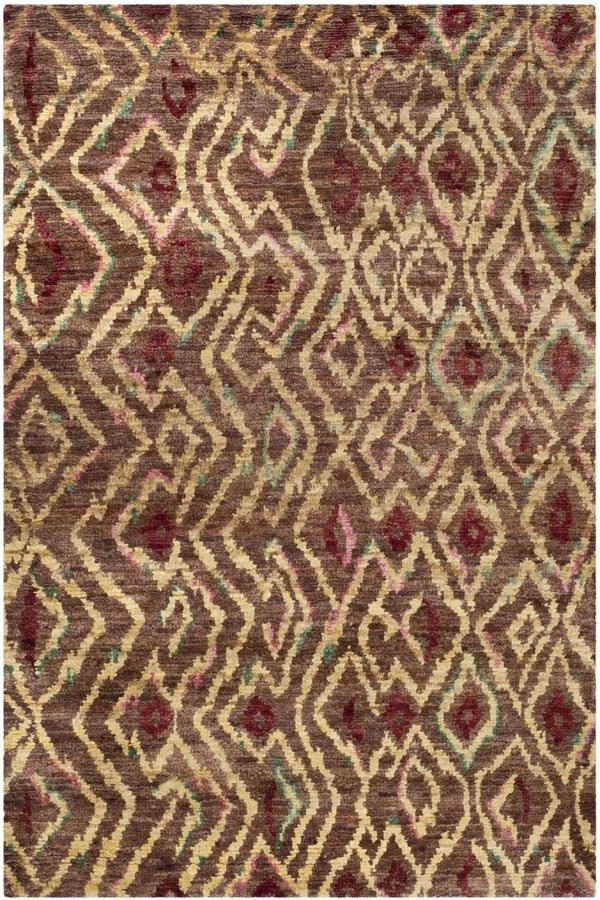 Brown, Gold (A) Transitional Area Rug