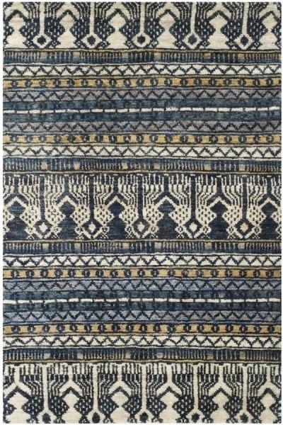 Blue (A) Moroccan Area Rug