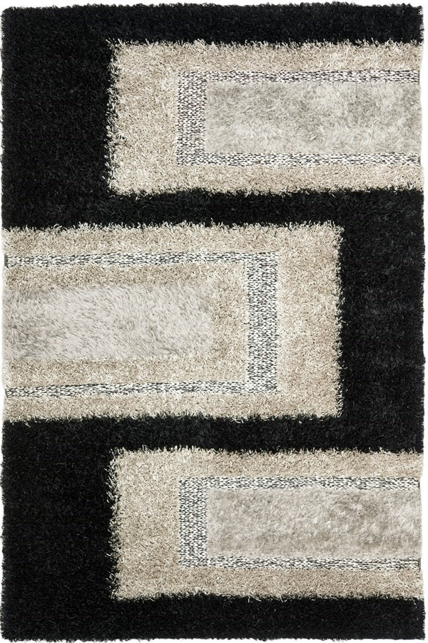 Black, Grey (B) Transitional Area Rug