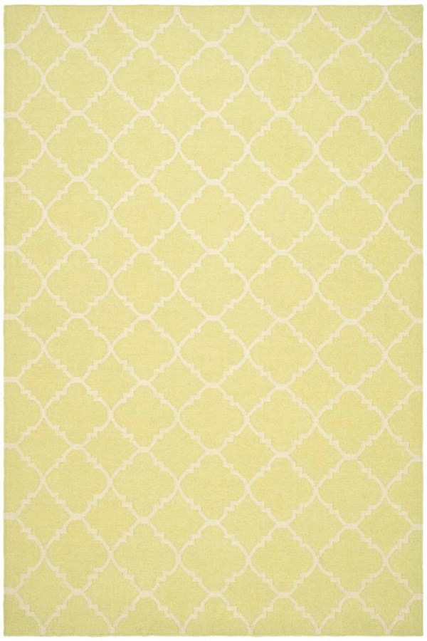 Light Green, Ivory (A) Moroccan Area Rug