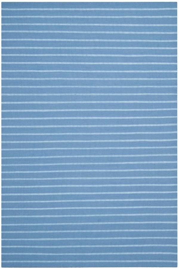 Blue (A) Striped Area Rug