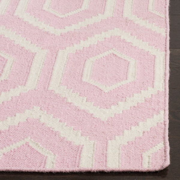 Pink, Ivory (C) Moroccan Area Rug