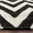 Product Image of Black, Ivory (L) Chevron Area Rug