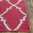 Product Image of Red, Ivory (A) Moroccan Area Rug