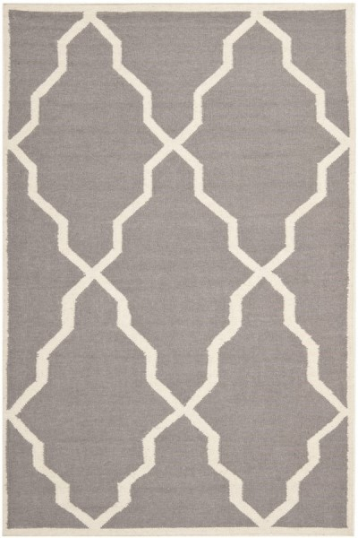 Grey, Ivory (A) Transitional Area Rug