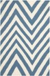 Product Image of Blue, Ivory (A) Chevron Area Rug