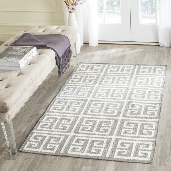 Grey, Ivory (B) Transitional Area Rug