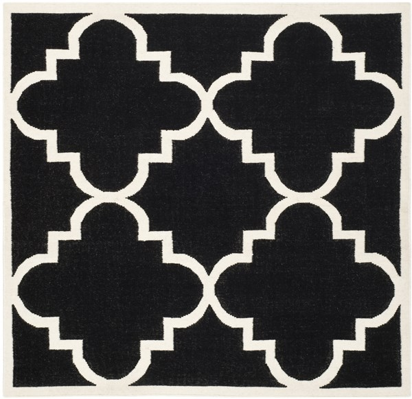 Black, Ivory (A) Moroccan Area Rug