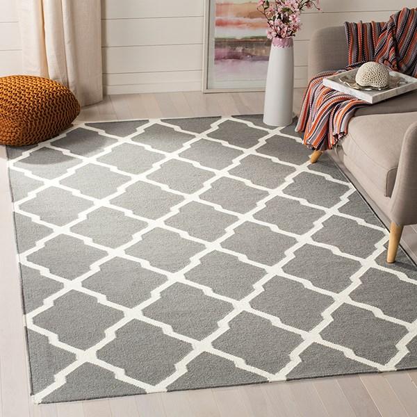 Grey, Ivory (B) Moroccan Area Rug