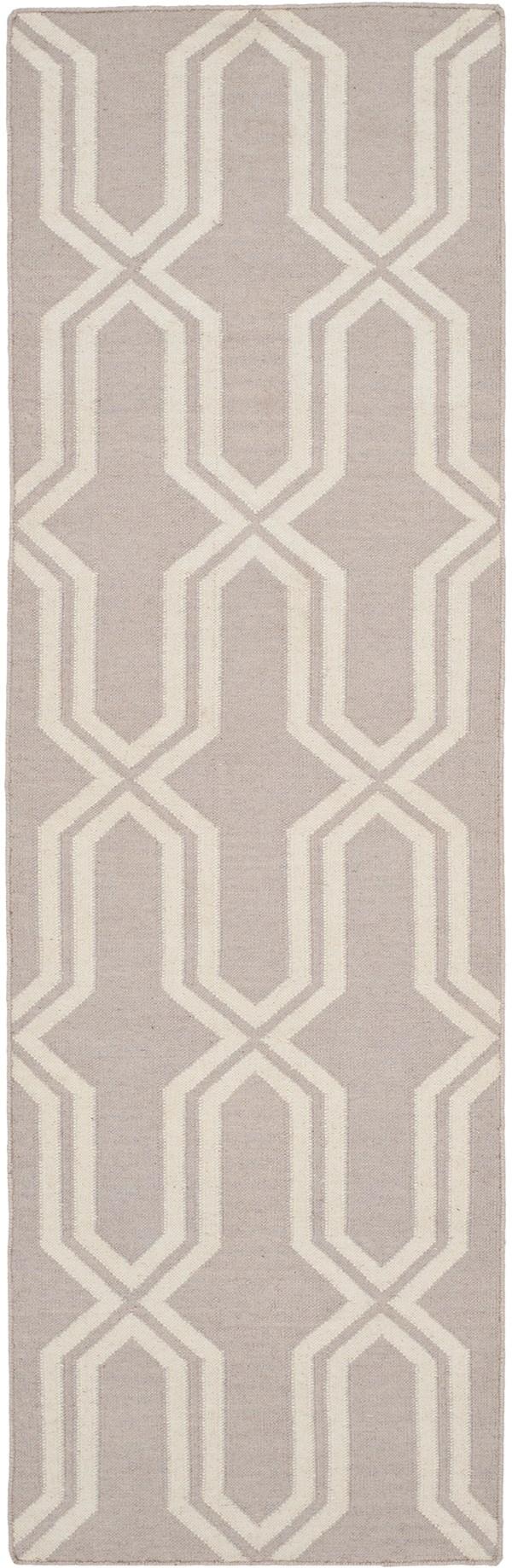 Grey, Ivory (G) Moroccan Area Rug