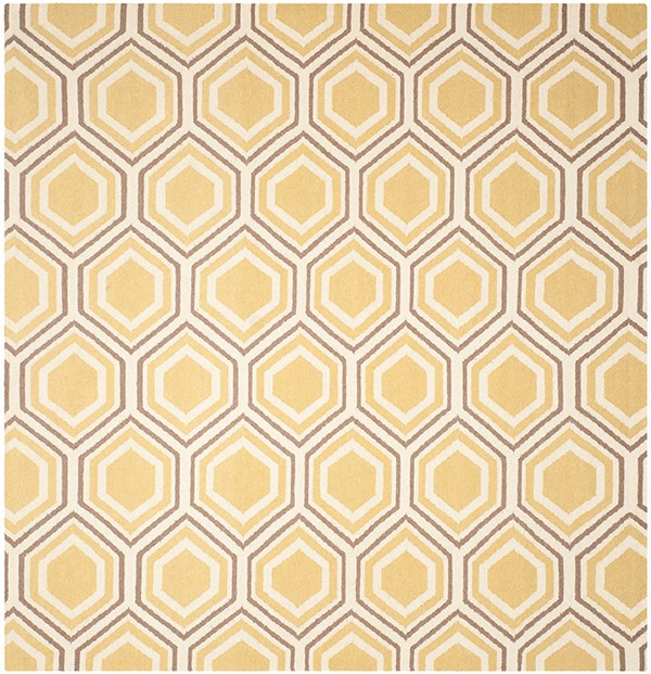 Ivory, Yellow (A) Moroccan Area Rug