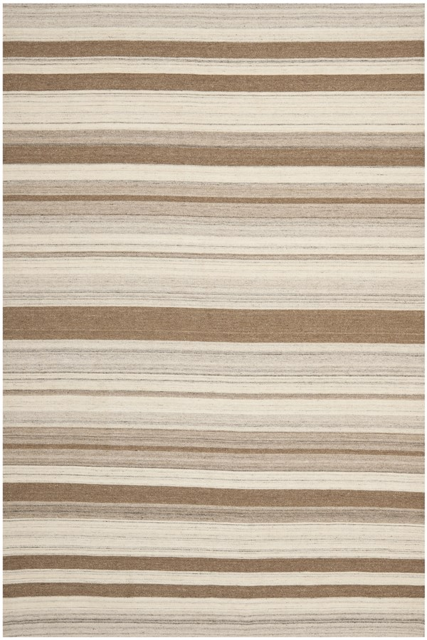 Natural, Camel (A) Striped Area Rug