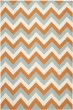 Product Image of Terracotta, Blue (C) Contemporary / Modern Area Rug