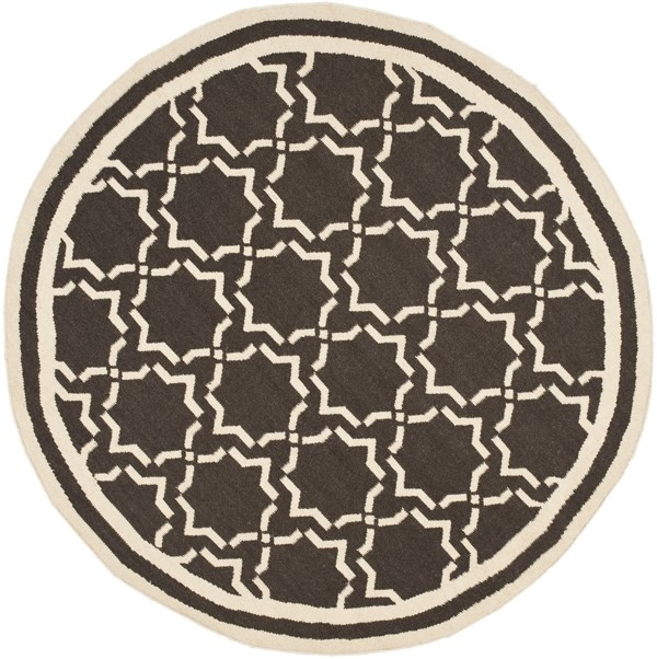 Chocolate, Ivory (A) Moroccan Area Rug