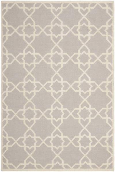 Grey, Ivory (G) Moroccan Area Rug