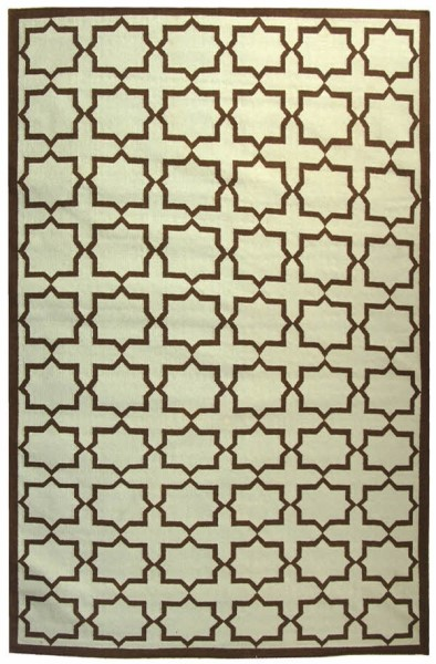 Light Blue, Brown (A) Transitional Area Rug