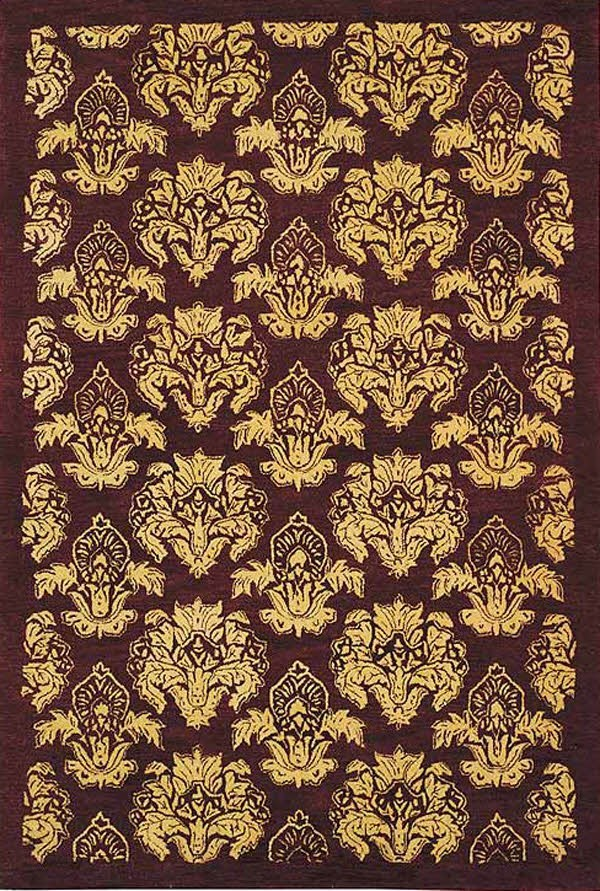 Cola (A) Damask Area Rug