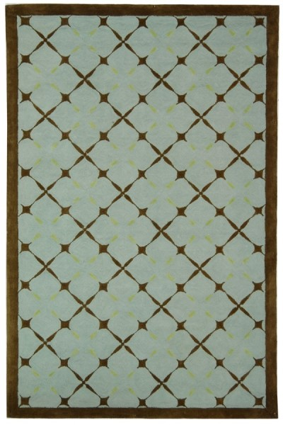Blue, Brown (A) Transitional Area Rug